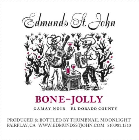 Edmunds St. John Bone-Jolly Gamay Noir 2018  Front Label