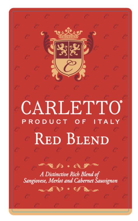 Carletto Red Blend 2017  Front Label