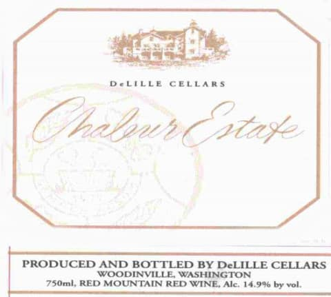 DeLille Chaleur Estate Red 2006 Front Label
