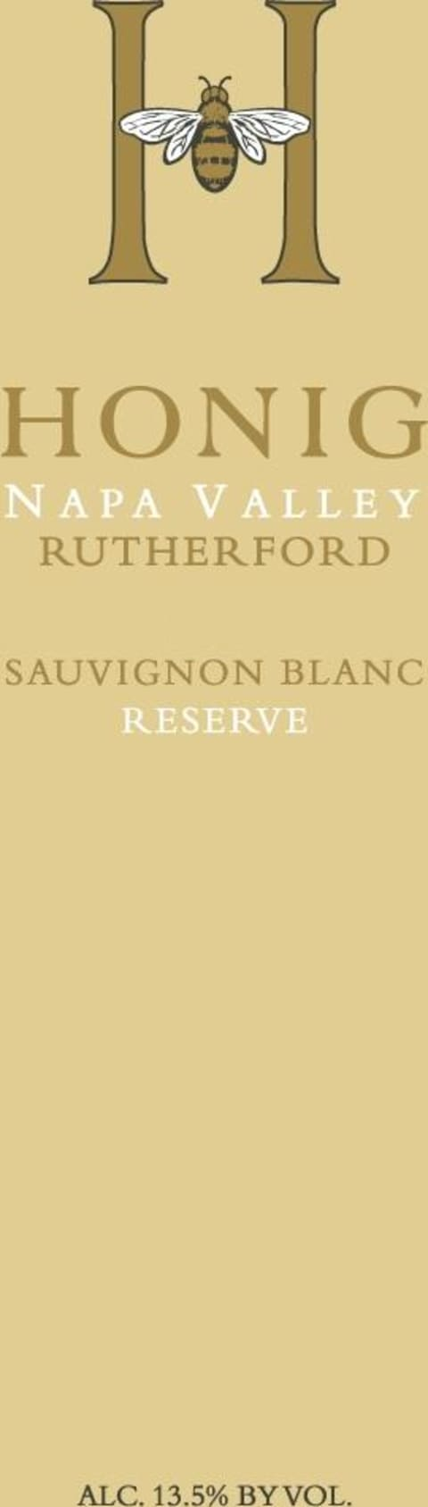 Honig Rutherford Reserve Sauvignon Blanc 2017 Front Label