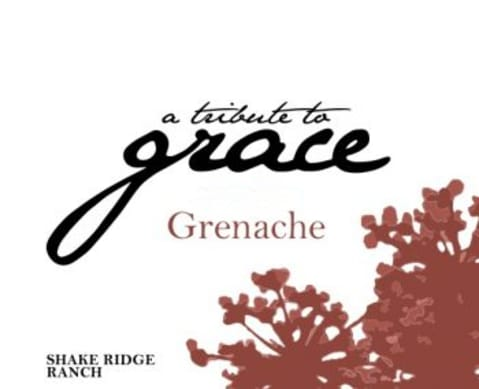 A Tribute to Grace Shake Ridge Ranch Vineyard Grenache 2016 Front Label