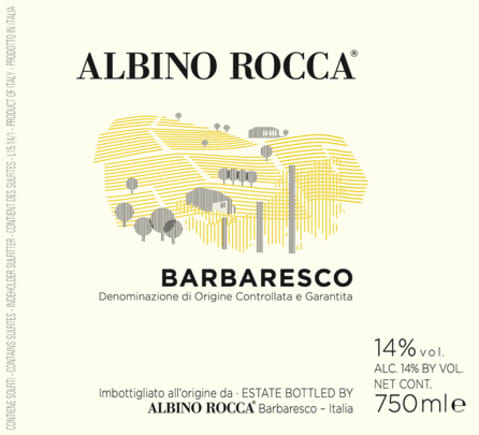 Albino Rocca Barbaresco 2015 Front Label