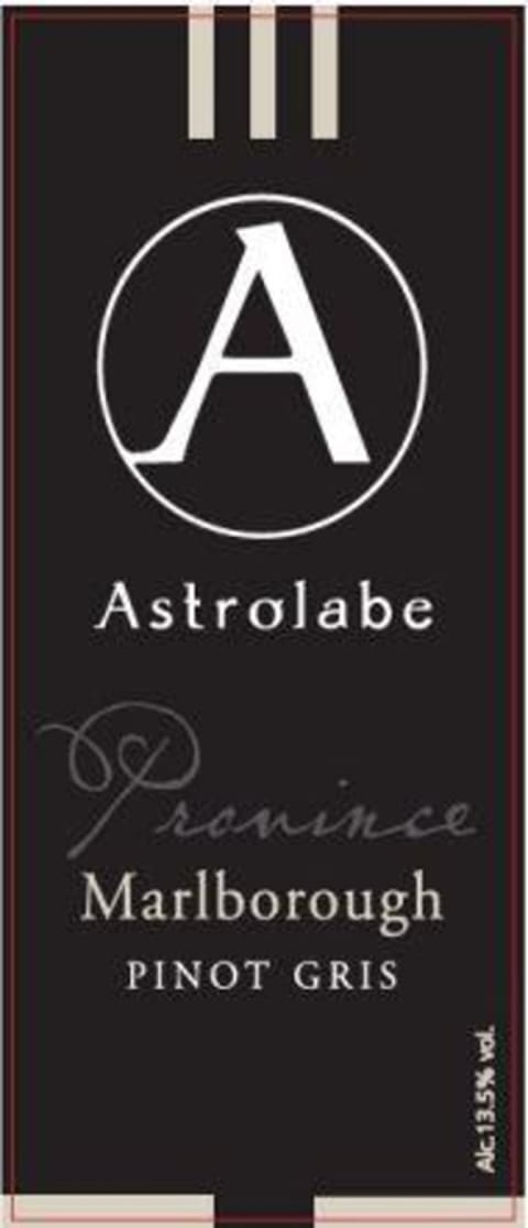 Astrolabe Province Pinot Gris 2017 Front Label