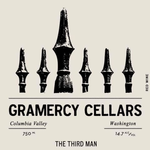 Gramercy Cellars The Third Man GSM 2015 Front Label