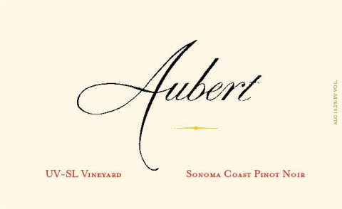 Aubert UV-SL Vineyard Pinot Noir 2016 Front Label