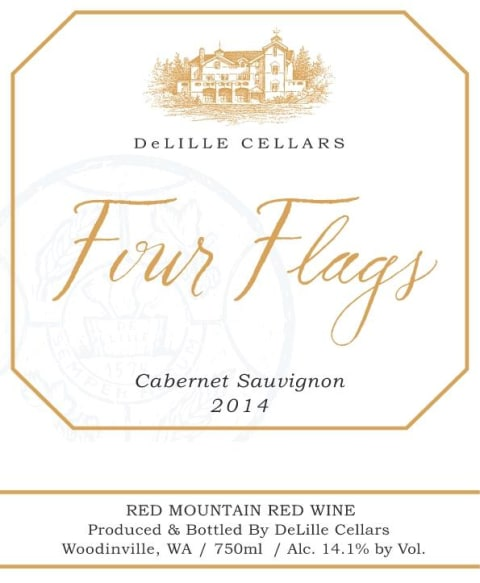 DeLille Four Flags Cabernet Sauvignon 2014  Front Label