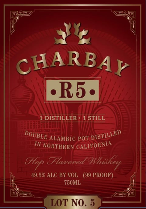 Charbay R5 Lot 5 Firehouse Whiskey  Front Label