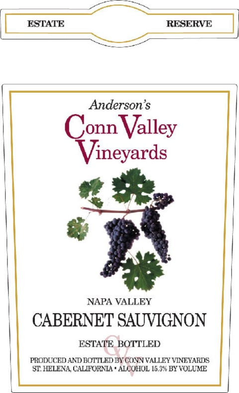 Anderson's Conn Valley Vineyards Cabernet Sauvignon Estate Reserve 2005  Front Label