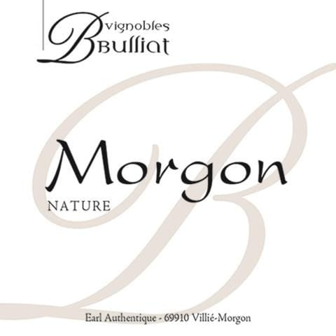 Vignobles Bulliat Morgon Nature Gamay 2017 Front Label