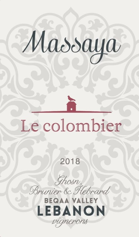 Massaya Le Colombier Rouge 2018  Front Label