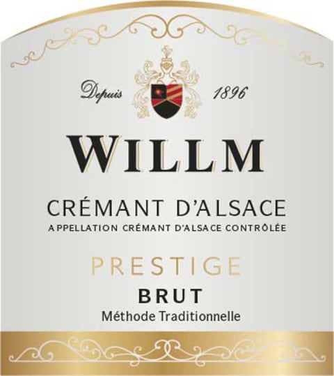 Alsace Willm Brut Prestige  Front Label