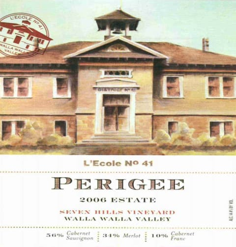 L'Ecole 41 Seven Hills Vineyard Perigee 2006  Front Label