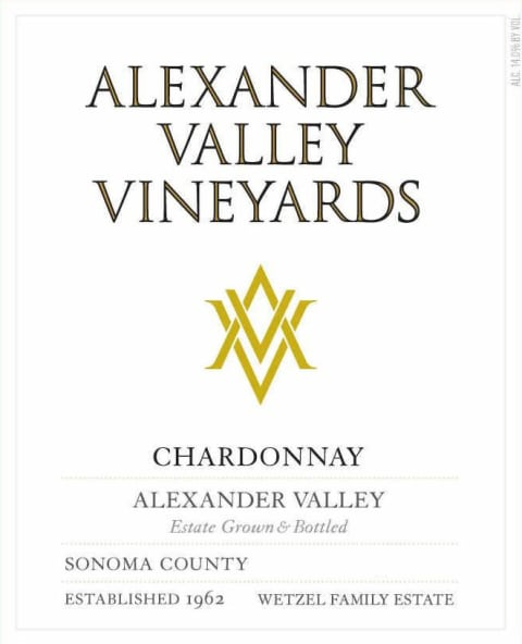 Alexander Valley Vineyards Estate Chardonnay 2018  Front Label