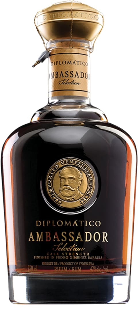 Diplomatico Ambassador Cask Strength Rum  Front Bottle Shot