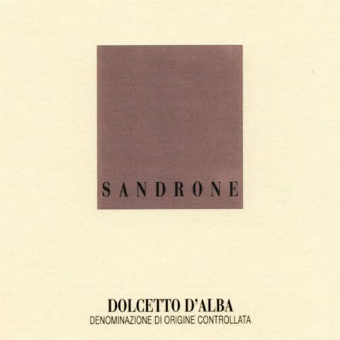 Sandrone Dolcetto d'Alba 2018  Front Label