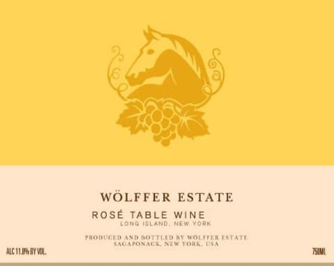 Wolffer Estate Rose 2018 Front Label