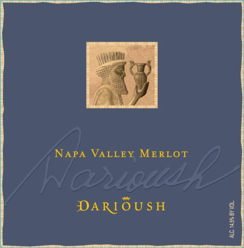 Darioush Signature Merlot 2014  Front Label
