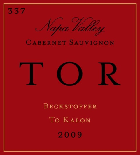TOR Clone 337 Beckstoffer To Kalon Cabernet Sauvignon 2009  Front Label