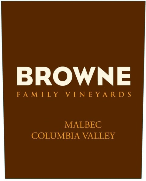 Browne Family Vineyards Malbec 2015 Front Label