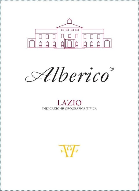 Alberico Rosso 2013  Front Label