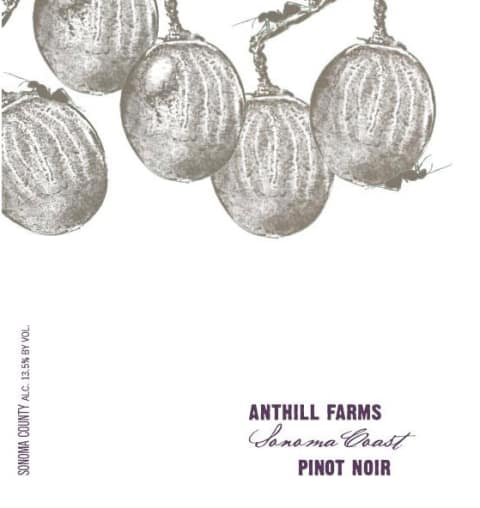 Anthill Farms Sonoma Coast Pinot Noir 2016 Front Label