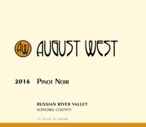August West Russian River Valley Pinot Noir 2016 Front Label