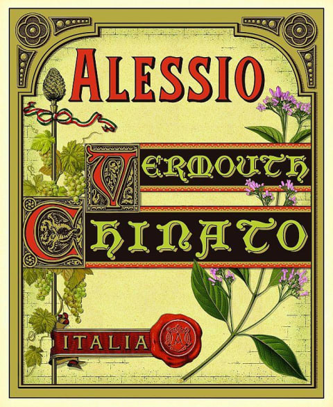 Alessio Vermouth Chinato  Front Label