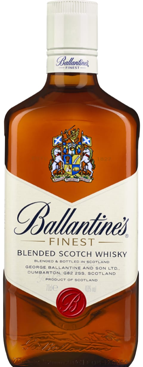 Ballantine's Finest Blended Scotch Whisky Front Bottle Shot