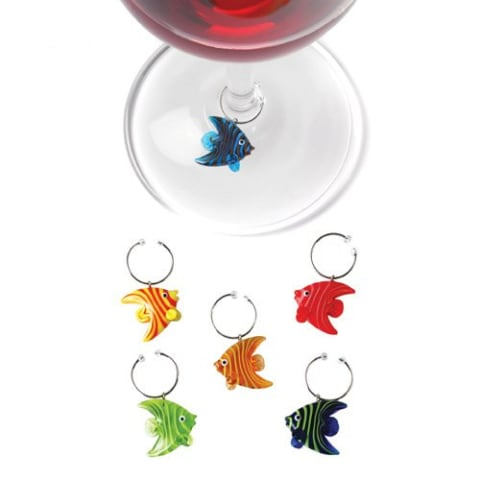 wine.com Angelfish Silicone Wine Charms  Gift Product Image