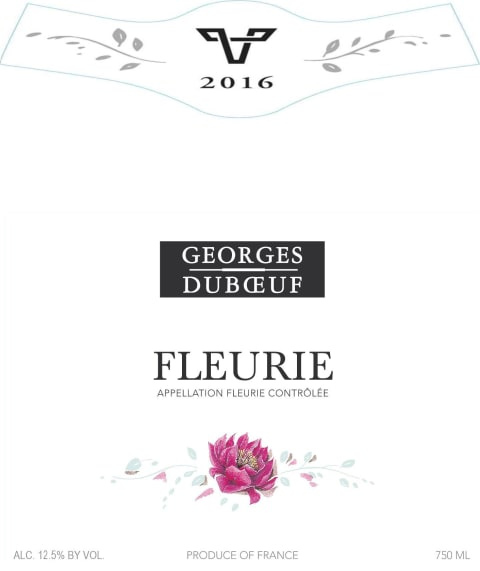 Duboeuf Fleurie 2016 Front Label