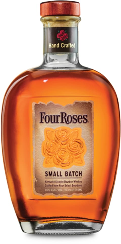 Four Roses Small Batch Kentucky Straight Bourbon Whiskey Front Bottle Shot