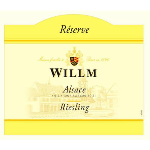 Alsace Willm Riesling Reserve (375ML half-bottle) 2018  Front Label