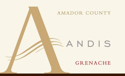 Andis Grenache 2016 Front Label