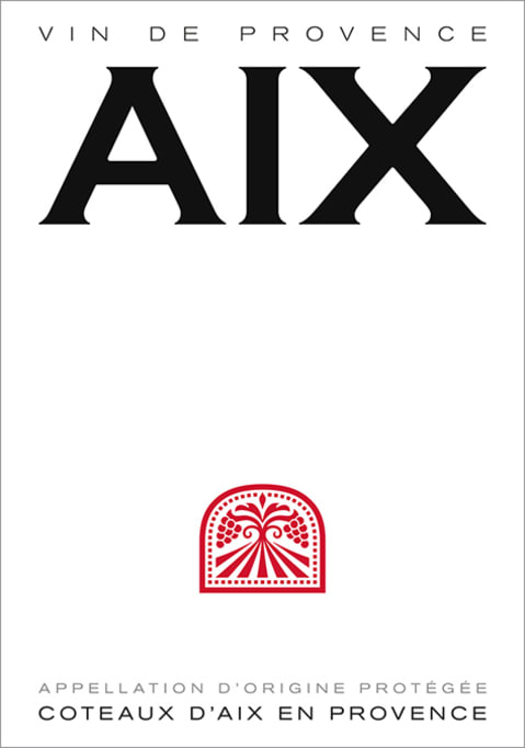 Aix Rose 2020  Front Label