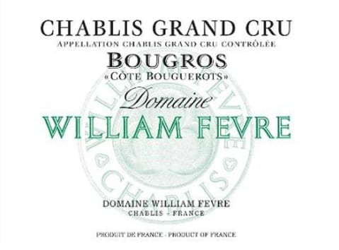 William Fevre Chablis Bougros Cote Bouguerots Grand Cru 2017 Front Label