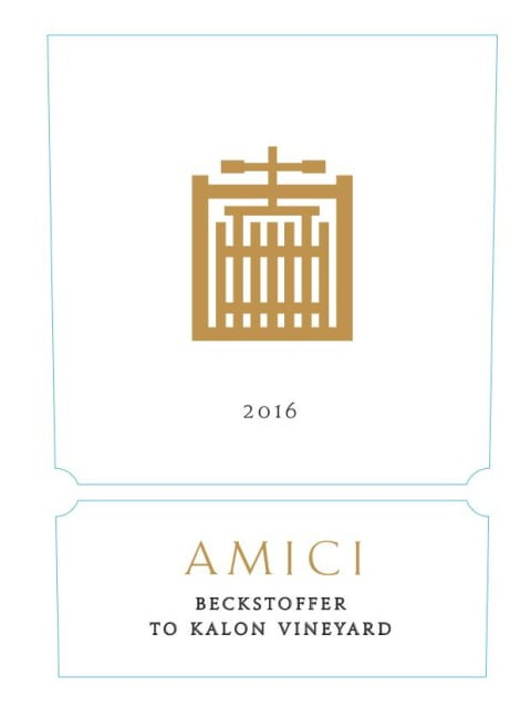 Amici Beckstoffer To Kalon Vineyard Cabernet Sauvignon 2016  Front Label