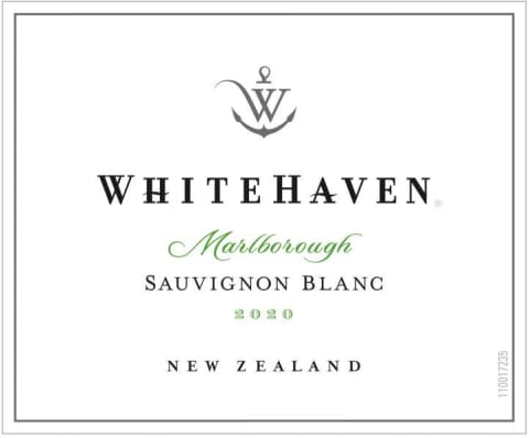 Whitehaven Sauvignon Blanc (375ML half-bottle) 2020  Front Label