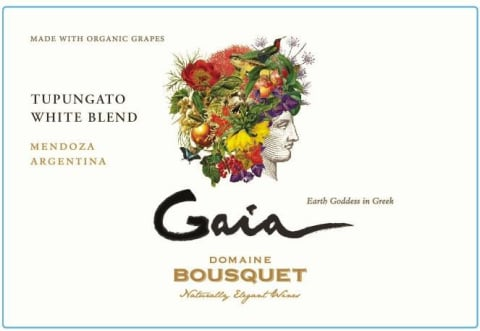 Domaine Bousquet Gaia White Blend 2016 Front Label