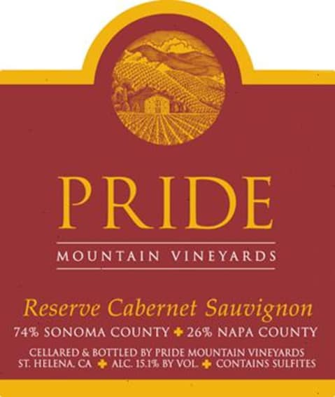 Pride Mountain Vineyards Reserve Cabernet Sauvignon (1.5 Liter Magnum) 2004 Front Label