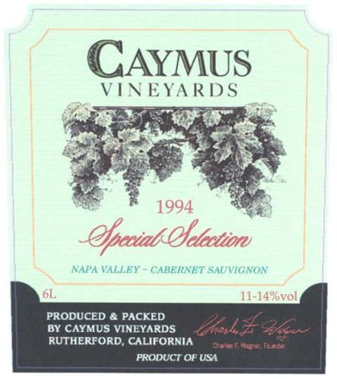 Caymus Special Selection Cabernet Sauvignon 1994 Front Label