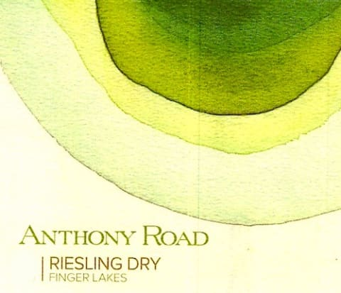 Anthony Road Dry Riesling 2016  Front Label