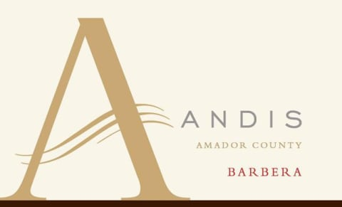 Andis Barbera 2015 Front Label