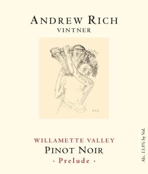 Andrew Rich Prelude Pinot Noir 2016  Front Label