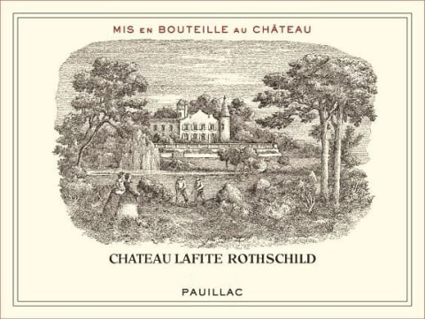 Chateau Lafite Rothschild (torn label) 1986  Front Label