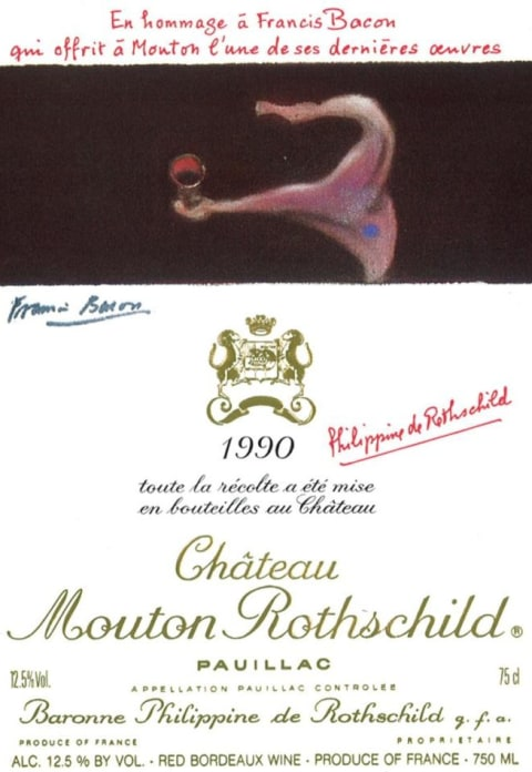 Chateau Mouton Rothschild  1990 Front Label