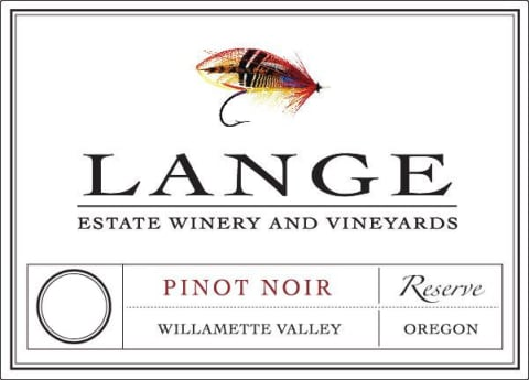 Lange Winery Reserve Pinot Noir 2017  Front Label