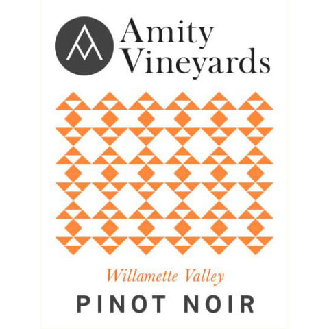 Amity Willamette Valley Pinot Noir 2018  Front Label