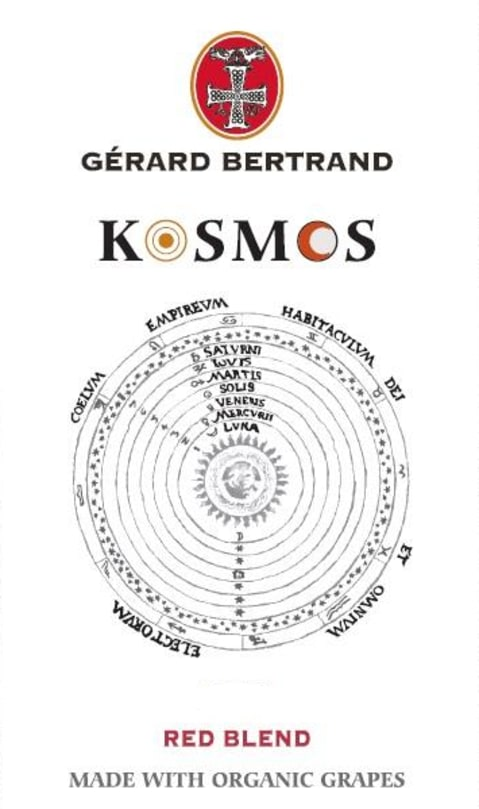 Gerard Bertrand Kosmos Organic Red Blend 2016 Front Label
