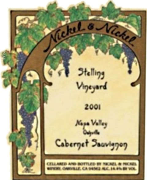 Nickel & Nickel Stelling Vineyard Cabernet Sauvignon 2001  Front Label