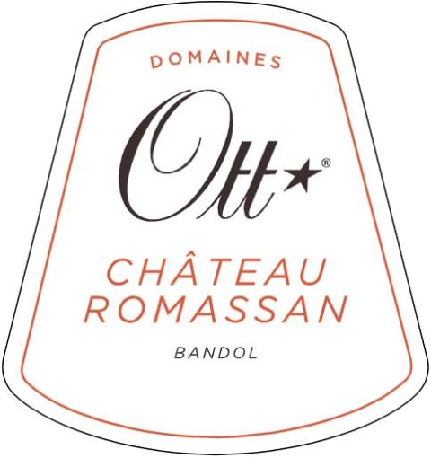 Domaines Ott Chateau Romassan Grand Cru Bandol Rose 2017 Front Label